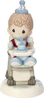 Precious Moments Have A Smashing Birthday Baby Boy's First Birthday Bisque Porcelain Figurine 182002