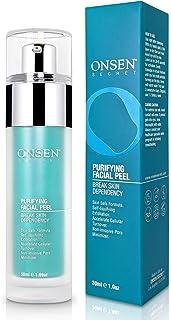 Onsen Exfoliating Peeling Gel - Daily Gentle Face Exfoliator, Dark Spot Remover, Organic Facial Peel for Sensitive Skin, N...