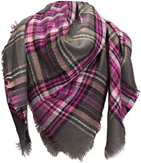 ⭐️ QIQIU New Soft Large Blanket Scarf Women Classic Tassel Plaid Wrap Shawl Fashion Scarves