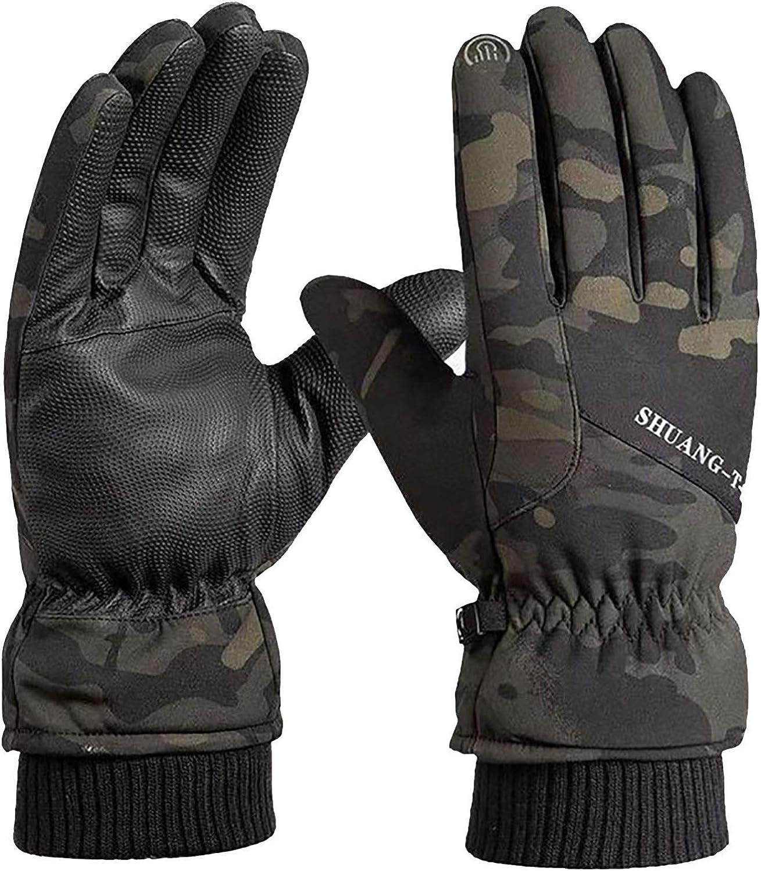 Holzkary Winter Gloves for Men Women Cold Weather Touchscreen Waterproof Snow Waterproof Warm Ski Gloves