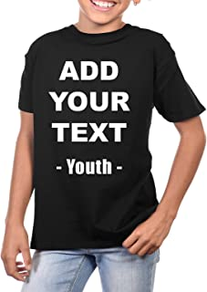 Custom T Shirts Youth Ultra Soft Add Your Own Text Message Cotton T Shirt