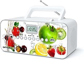 Muse M 28 VF CD Radio tragbar, PLL UKW Radio, MW Tuner, Senderspeicher, USB, MP3 Wiedergabe, Netz  oder Batteriebetrieb, VF