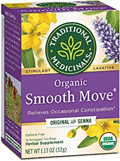 Traditional Medicinals Herbal Teas, Organic Smooth Move, 16 Count (Pack of 3)