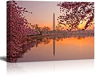 Canvas Prints Wall Art - Cherry Blossom Festival at The National Mall Washington, DC | Modern Wall Decor/Home Decor Stretched Gallery Wraps Giclee Print & Wood Framed. Ready to Hang - 24