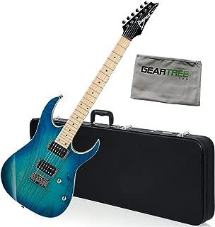 Ibanez RG421AHMBMT RG Standard Electric Guitar (Blue Moon Burst) w/Hard Case an