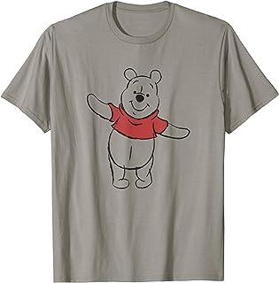 Disney Winnie The Pooh Outline Standing Transparent Camiseta