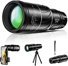 Monocular Telescope, 16x52 High Power BAK4 HD Monocular with Smartphone Holder Tripod for Adults Waterproof Night Vision with Durable and Clear Prism Dual Focus for Bird Watching, Camping, Travelling