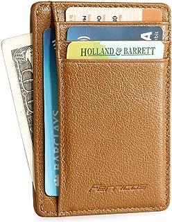 Ferricos Slim Minimalist Front Pocket Men's Money Credit Card Wallet RFID Blocking for Men & Women