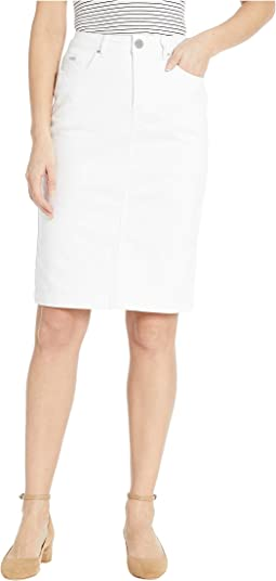 Soft Hues Denim Skirt in White