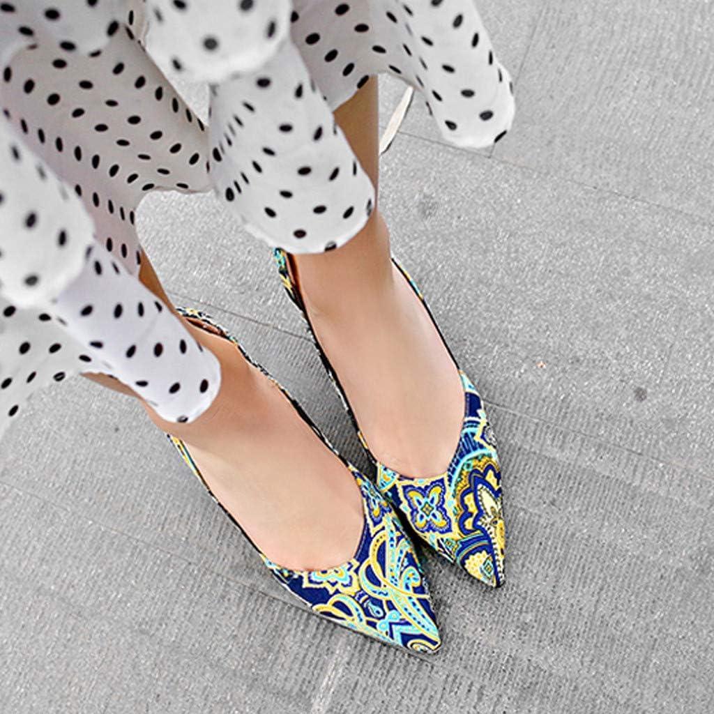 Zapatos puntiagudos de moda para mujer Tac/ón de aguja Zapatos de tac/ón alto para mujer