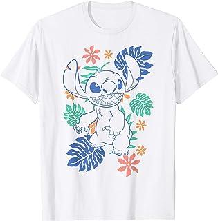 Disney Lilo & Stitch Floral Stitch Outline T-Shirt