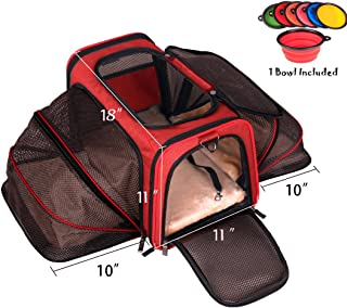 Premium Airline Approved Expandable Pet Carrier by Pet Peppy- Two Side Expansion, Designed for Cats, Dogs, Kittens,Puppies - Extra Spacious Soft Sided Carrier!