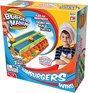 "Fotorama Burger Mania Game Fast Pace Build a Burger Conveyor Fast Food Time Game Thrill Competition, 3.1"" x 10.6"" x 10.6"", Model:3058-9906"