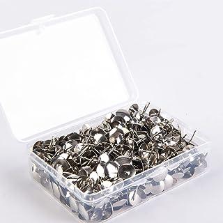 500 Stuks Punaise, Zilveren Punaise, Kantoor Punaise, Met Doorzichtige Plastic Doos, Geschikt voor het Ophangen van Memo's...