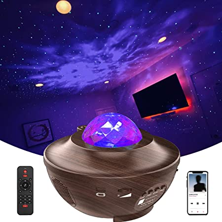 Amazon Com Galaxy Projector Led Night Light Star Projector For Ceiling For Adults Gifts Ocean Wave Projector For Bedroom Music Projector With Bluetooth Music Speaker Remote Control Relaxation Ambiance Musical Instruments
