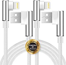 Boost 10FT Charging Cables, 2 Pack 3-Meter Right Angle Nylon Braided Fast Charge Cable Line Data Sync Cable Wire Compatible for iPhone X/8/8 Plus/7/7 Plus/6 / 6S / 6 Plus/5S/SE/Mini/Air/Pro Case