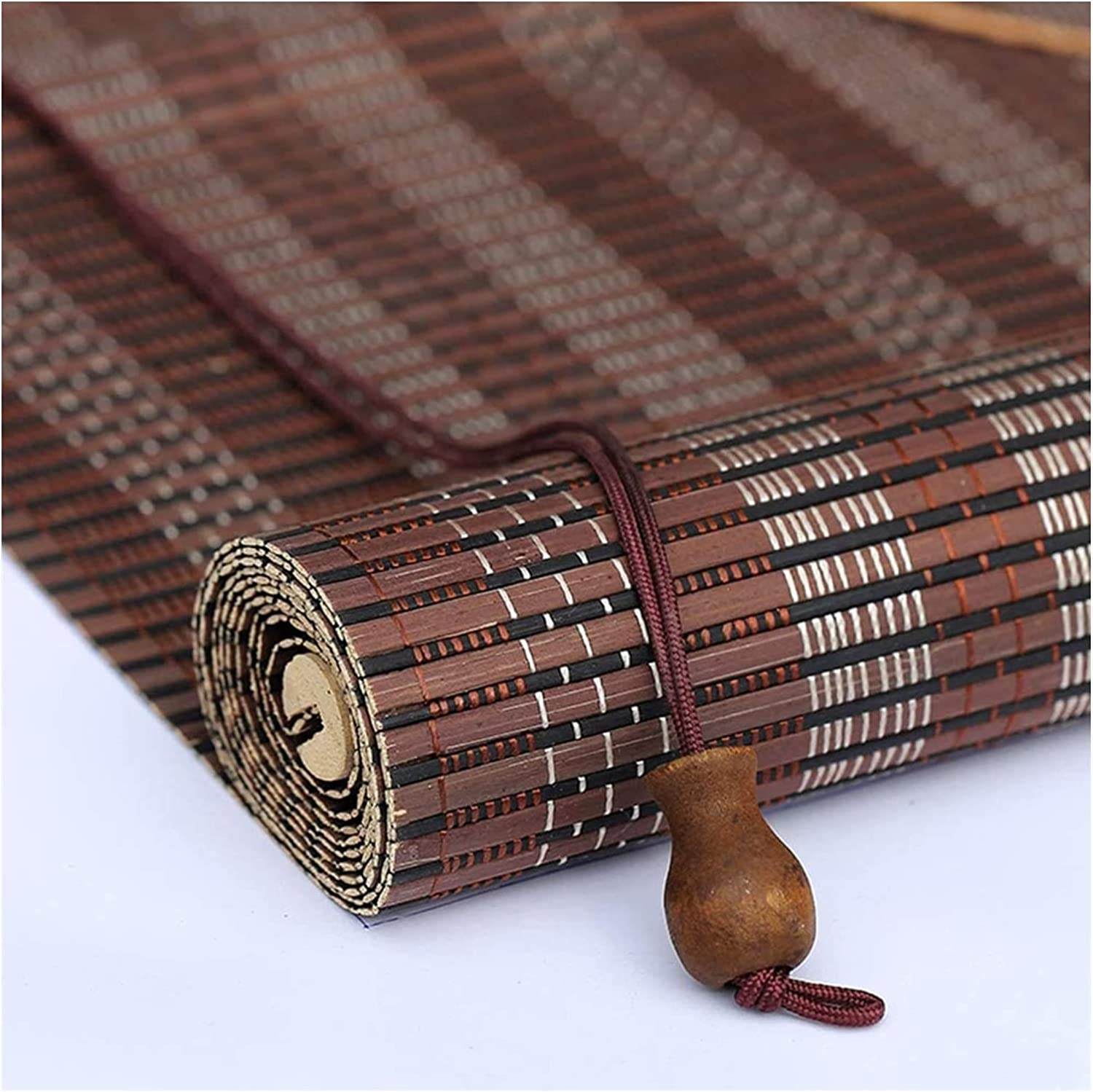 MTDWEITOO NEW before selling ☆ Bamboo Blinds for Drilling Curtain Popular product No Windows