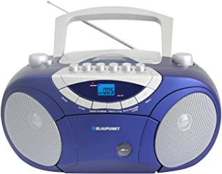 Blaupunkt BB15BL Boombox with Radio/CD / MP3 Player/Cassette Player with LCD Dislay/USB/X-Bass Blue