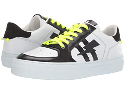Neil Barrett Pierced Modernist Ultra Sneaker (White/Black) Men