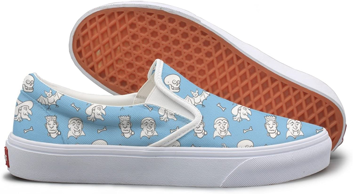 Skulls Halloween Fun Pattern Comfortable Sneakers For Standing All Day