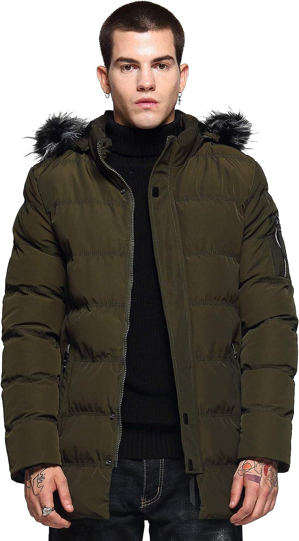 Beuniclo Winter Men's Fleece Hooded Cotton-Padded Jacket Quilted Jacket