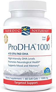 Sponsored Ad - Nordic Naturals ProDHA 1000, Strawberry - 60 Soft Gels - 1660 mg Omega-3 - High-Intensity DHA Formula for N...