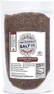Hickory Smoked Sea Salt 2 lb. Bag - Coarse Grain by San Francisco Salt Company