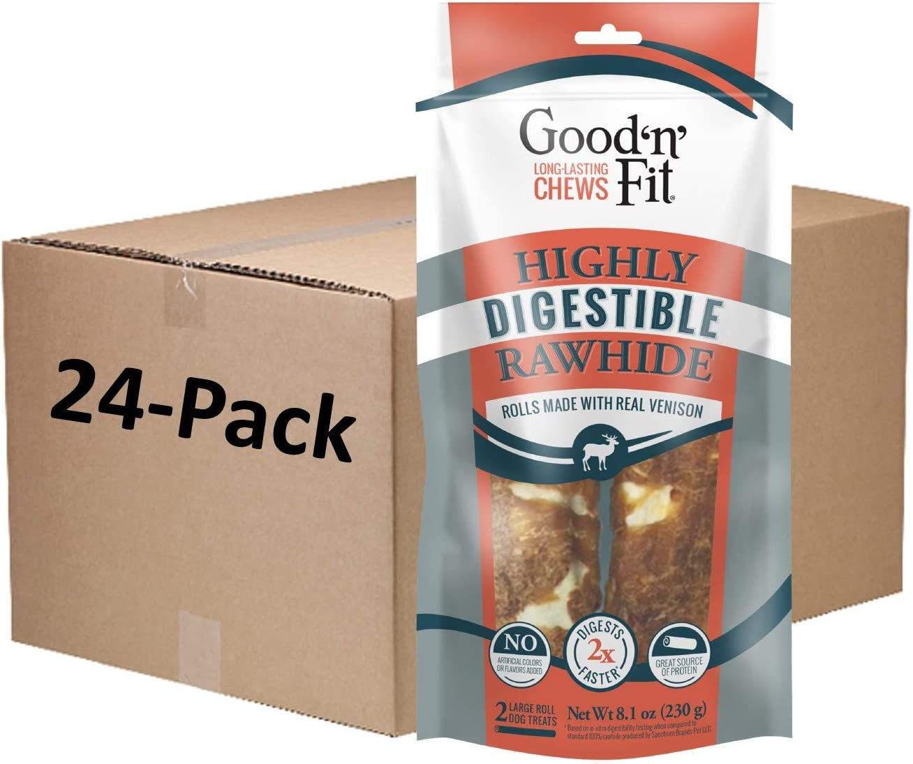 Good 'n' Fit Large Ranking TOP7 Max 54% OFF Rolls Highl with Made Venison Real