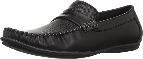 Nunn Bush Hommes's Quail Valley Moc Toe Penney Slip-On Driving Style Loafer, noir, 9.5 Wide US