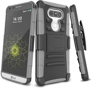 LG G5 Case,TILL [Knight Armor] Heavy Duty Full-Body Rugged Holster Resilient Armor Case [Belt Swivel Clip][Kickstand] Combo Cover Shell for LG G5 Phone AT&T T-Mobile Sprint Verizon Unlocked [Gray]