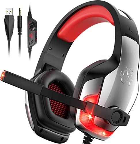 Hunterspider PS4 Headset V-4 Gaming Headset Xbox one Headset Stereo Wired Over-Head Gaming Headphones with Noise Canc...