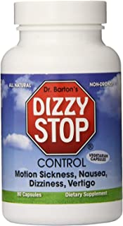 DizzyStop - All-Natural Herbal Supplement for Motion Sensitivity, Including Car, Air, & Sea Sickness, Dizzi...