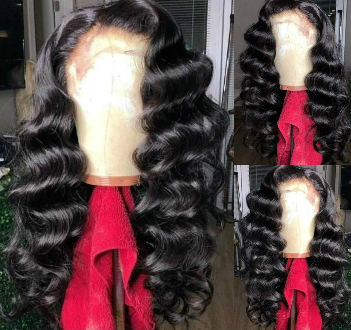 Loose Deep Wave Synthetic Max 76% OFF Lace Excellence Wigs 180% Glueless Front Density