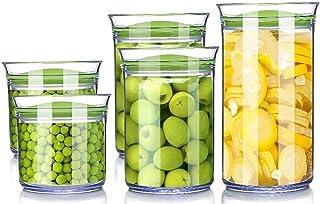 Boîte de rangement Cuisine Réfrigérateur Grain Conteneur À vide Transparent Plastique Lait Poudre de lait Snack Café Fruit...