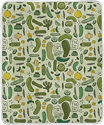 Pickles Throw Blanket Soft Warm Cozy Bed Couch Lightweight Polyester Microfiber Size 50