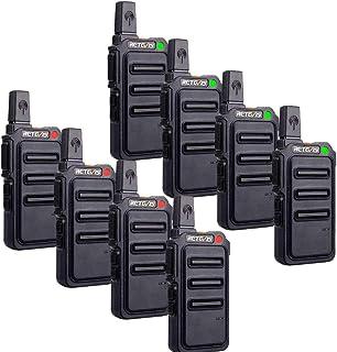 Retevis RT619 Walkie Talkie, Professionelles Funkgerät mit Groäer Reichweite PMR446 Funkgeräte 1300 mAh Batterie 16 CH VOX, Walkie Talkies für Sicherheitskräfte, Schule (8 Stück, Schwarz)