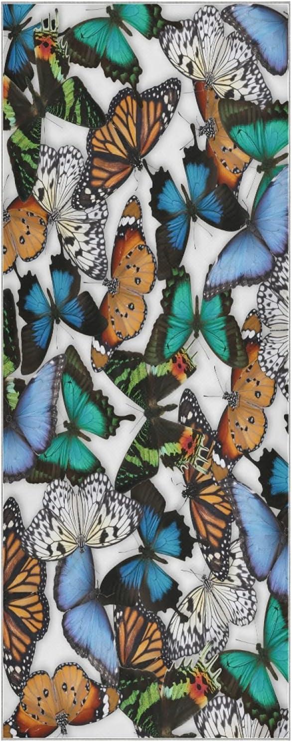 Mazeann Many Different Phoenix Mall Butterflies Max 51% OFF Yoga Super Mat Fiber Towel S