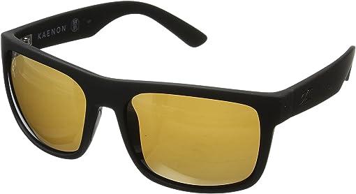 Black Matte Grip Brown 12-Polarized Gold Mirror