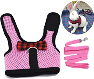 Orgrimmar Rabbits Harness with Elastic Leash Set Suitable for Small Pets Cat Guinea Pig Ferret and Other Animal Chest Stra...