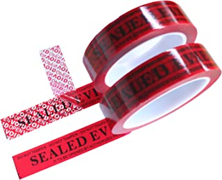 2 Rolls Forensic Easy-to-Tear Precut Security Tamper Evidence Tapes for Crime Scene Use (Red, 1 inch x 55 Yards x 2mil, No Scissor Needed - TamperSeals)