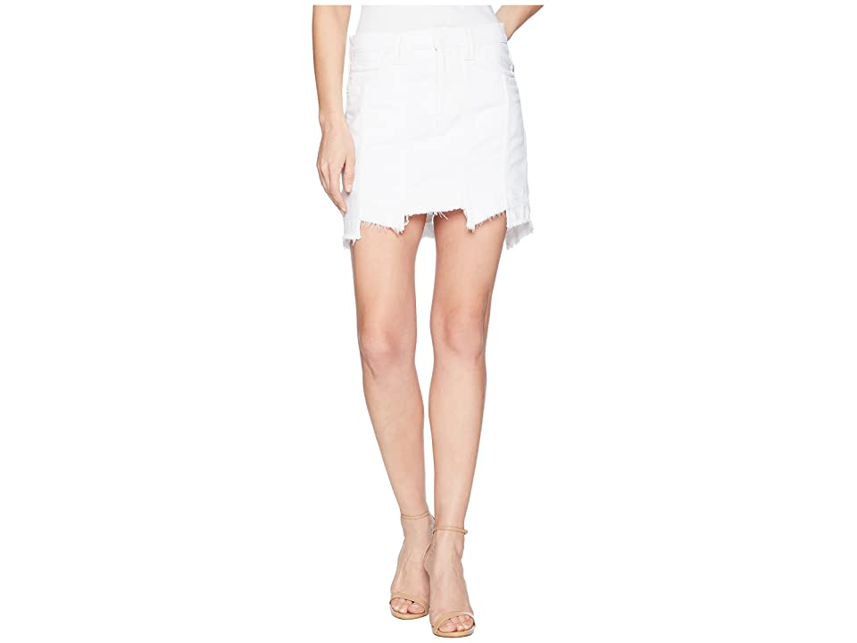 Hudson Weekender Step Hem Jean Skirt in White (White) Women