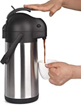 2.2 Liter Airpot Thermal Coffee Carafe with Pump/Lever Action/Stainless Steel Insulated..