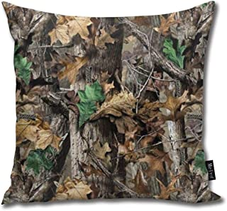 3dFlower Free Realtree Camo Funny Square Throw Pillow Cases Cushion Cover for Bedroom Living Room Decorative 18X18 Inch