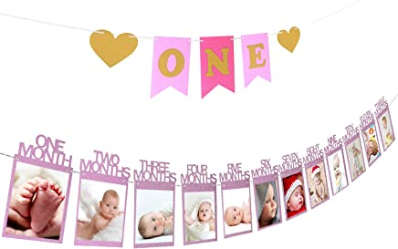 marco de fotos ZoomSky guirlada fotos papel para colgar bebe recién foto decora fiesta de primer