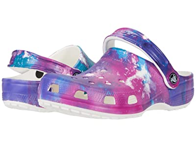 Crocs Kids Classic Out of This World Clog (Toddler/Little Kid/Big Kid) (White/Purple) Kid