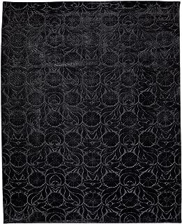 Ethan Allen Floral Jacquard Rug, Black, 7'9