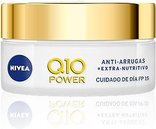NIVEA Q10 Power Antiarrugas Crema de Día Extra-Nutritiva crema facial antiarrugas con coenzima Q10 y aceite de argán cre...