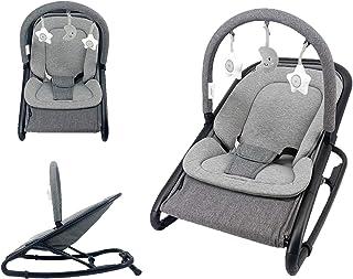 Star Ibaby Babify Hamac de bébé réglable en bascule/fixe - Barre de jouets - Pliage compact - Réducteur inclus - Gris