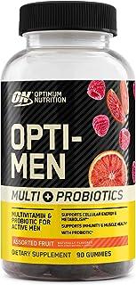 Optimum Nutrition Opti-Men Multivitamin & Probiotics Gummies, Supports Metabolism, Muscle Health and Immune Health, Assort...