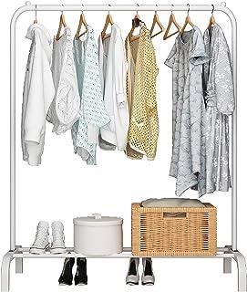 UDEAR Kleiderständer Freistehender Kleiderbügel Multifunktionales einpoliges Schlafzimmer Kleiderständer Schlafzimmer, Weiß